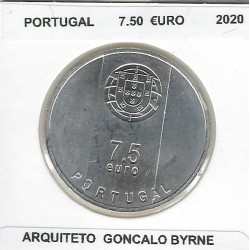 PORTUGAL 2020 7.50 EURO ARQUITETO GONCALO BYRNE SUP