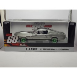 FORD MUSTANG GT500 ELEANOR GONE IN 60 SECONDS (60 SECONDES CHRONO) GREENLIGHT 1/24 BOITE D'ORIGINE NEUF