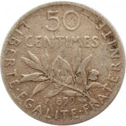 FRANCE 50 CENTIMES ROTY 1899 TB+