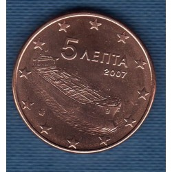 GRECE 2007 5 CENTIMES SUP