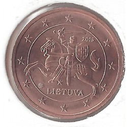 LITHUANIE 2 CENTIMES  2015