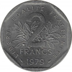 FRANCE 2 FRANCS ROTY 1979 SUP