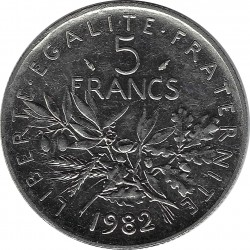 FRANCE 5 FRANCS ROTY 1982 SUP