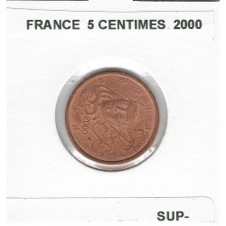 FRANCE 2000 5 CENTIMES SUP-