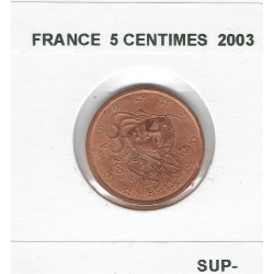 France 2003 5 CENTIMES SUP-