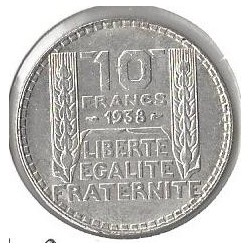 10 FRANCS  TURIN 1938 SUP