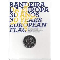 PORTUGAL 2 EURO COMMEMORATIVE DRAPEAU EUROPEEN  B.U 2015
