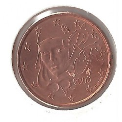 France 2000 1 CENTIME SUP-