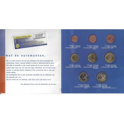 PAYS-BAS HOLLANDE ANNEES MELANGEES COFFRET UNC 8 MONNAIES INTRODUCTION DE L'EURO