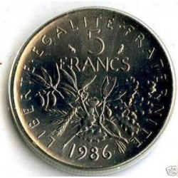 FRANCE 5 FRANCS ROTY 1986 FDC