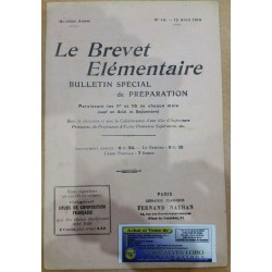 LE BREVET ELEMENTAIRE 15 AVRIL 1918
