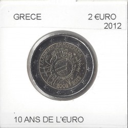 GRECE 2012 commemorative 10 ANS EURO
