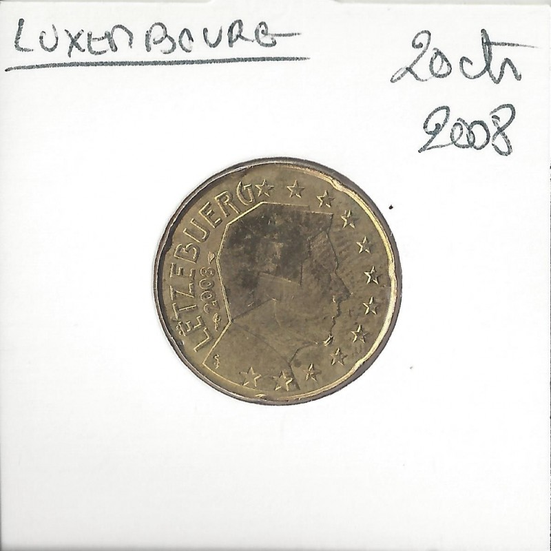 Luxembourg 2008 20 CENTIMES SUP