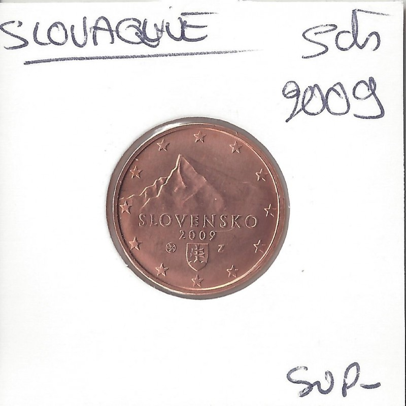 SLOVAQUIE 2009 5 CENTIMES SUP