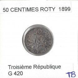 50 CENTIMES ROTY 1899 TB