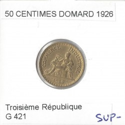 50 CENTIMES DOMARD 1926 SUP-