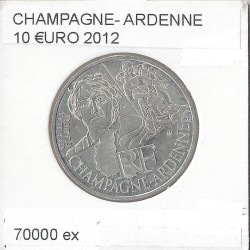 France 2012 10 EURO REGION CHAMPAGNE ARDENNES