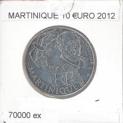 France 2012 10 EURO REGION MARTINIQUE