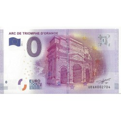 84 ORANGE ARC DE TRIOMPHE D'ORANGE BILLET SOUVENIR 0 EURO 2016-1  NEUF
