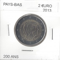 HOLLANDE  (PAYS-BAS ) 2 EURO COMMEMORATIVE 200 ANS 2013