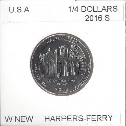 AMERIQUE (U.S.A) 1/4 DOLLAR 2016 S HARPERS FERRY SUP