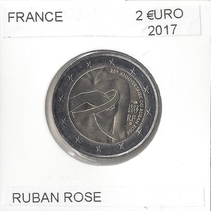 FRANCE 2017 2 EURO Commemorative RUBAN ROSE Etat SUP