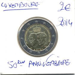 Luxembourg 2014 2 EURO 50éme Anniversaire SUP