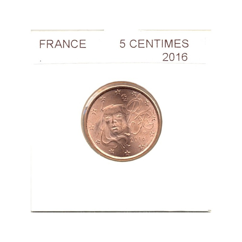 FRANCE 2016 5 CENTIMES SUP