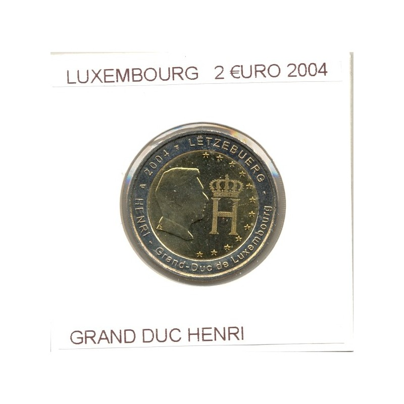 LUXEMBOURG 2004 2 EURO COMMEMORATIVE GRAND DUC HENRI SUP