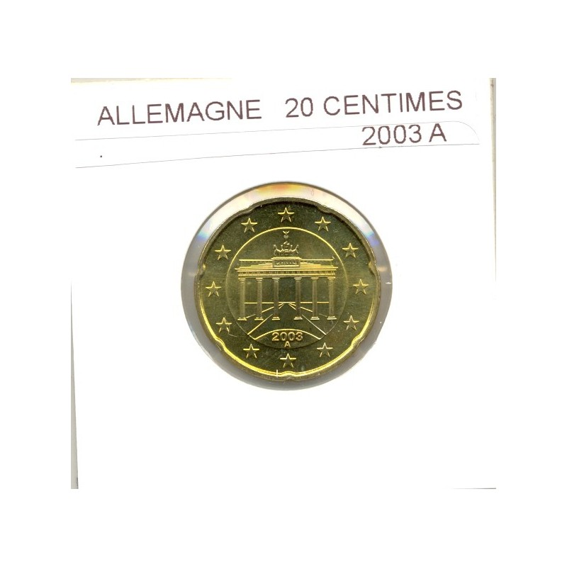 Allemagne 2003 A  20 CENTIMES SUP