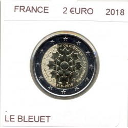 FRANCE 2018 2 EURO Commemorative LE BLEUET SUP