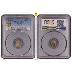 1/4 FRANC L.PHILIPPE 1838 A (PARIS) PCGS MS 64 (FDC)
