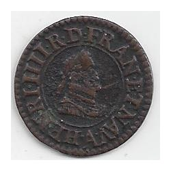 HENRI IV 1604 A (Paris) Denier tournois TTB+