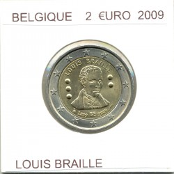 Belgique 2009 2 EURO COMMEMORATIVE LOUIS BRAILLE SUP