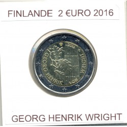 FINLANDE 2016 2 EURO COMMÉMORATIVE GEORG HENRIK WRIGHT SUP