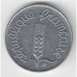 FRANCE 1 CENTIME INOX 1962 AVERS ECRITURE GRASSE SUP