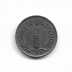 FRANCE 1 CENTIME INOX 1969 ECRITURE GRASSE A/R SUP