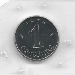 FRANCE 1 CENTIME INOX 1976 FDC