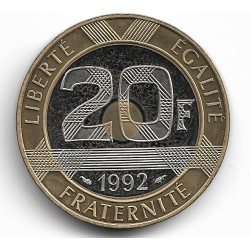 FRANCE 20 FRANCS MONT ST MICHEL 1992 BE