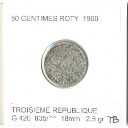 FRANCE 50 CENTIMES ROTY 1900 TB