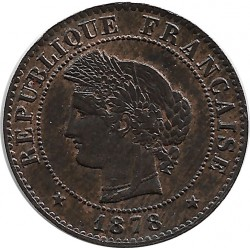 FRANCE 1 CENTIME CERES 1878 K SUP-