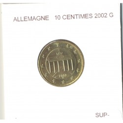 Allemagne 2002 G 10 CENTIMES SUP-