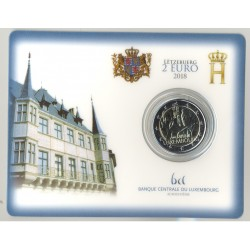 LUXEMBOURG 2018 2 EURO  GUILLAUME 1er COINCARD BU