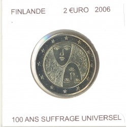 FINLANDE 2006 2 EURO COMMEMORATIVE 100 ANS SUFFRAGE UNIVERSEL SUP-