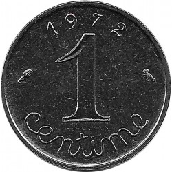 FRANCE 1 CENTIME INOX 1972 SUP-