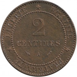 FRANCE 2 CENTIMES CERES 1895 A SUP