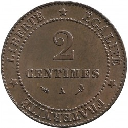 FRANCE 2 CENTIMES CERES 1897 A SUP-