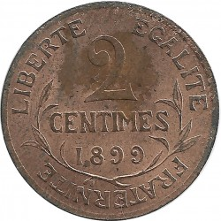 FRANCE 2 CENTIMES DUPUIS 1899 SUP