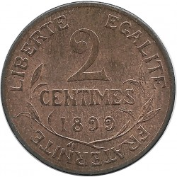FRANCE 2 CENTIMES DUPUIS 1899 SUP+