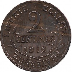 FRANCE 2 CENTIMES DUPUIS 1912 TTB